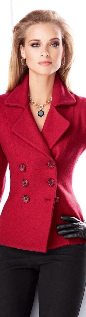 I love a red blazer and this one is georgous.
