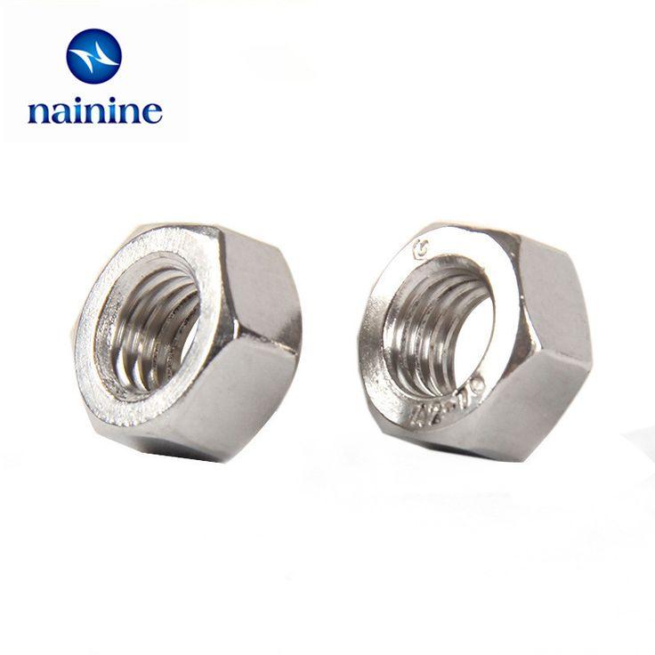 50Pcs DIN934 M2 M2.5 M3 M4 M5 M6 M8 M10 304 Stainless Steel Hex Nut Hexagon Nuts HW009