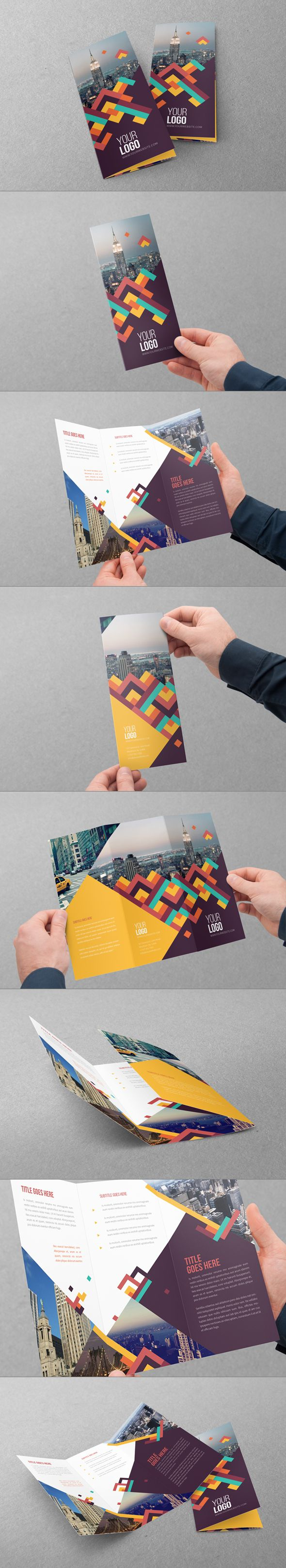 Colorful Pattern Trifold. Download here: http://graphicriver.net/item/colorful-pattern-trifold/7909703?ref=abradesign #design #brochure