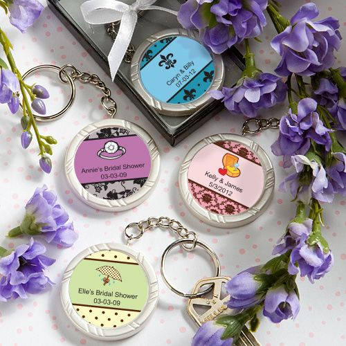 bridal shower key rings