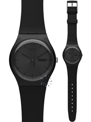 OROLOI.gr - ΡΟΛΟΓΙΑ SWATCH - SWATCH Black Rebel Black Rubber Strap