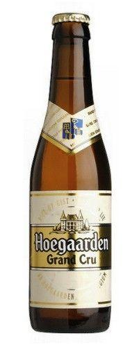Cerveja Hoegaarden Grand Cru, estilo Belgian Golden Strong Ale, produzida por Brouwerij Hoegaarden, Bélgica. 8.5% ABV de álcool.