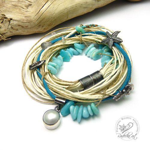 Zomer armband nautische armband mariene Jewelry door RadeckaArt