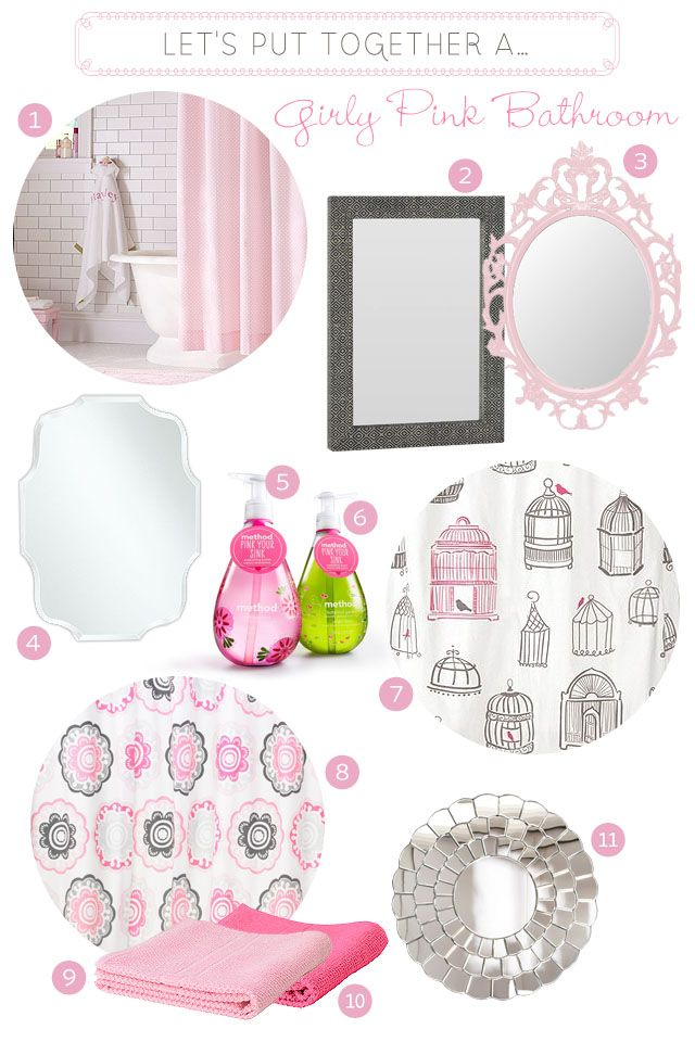 17 best images about pink bathrooms on pinterest for Girly bathroom accessories