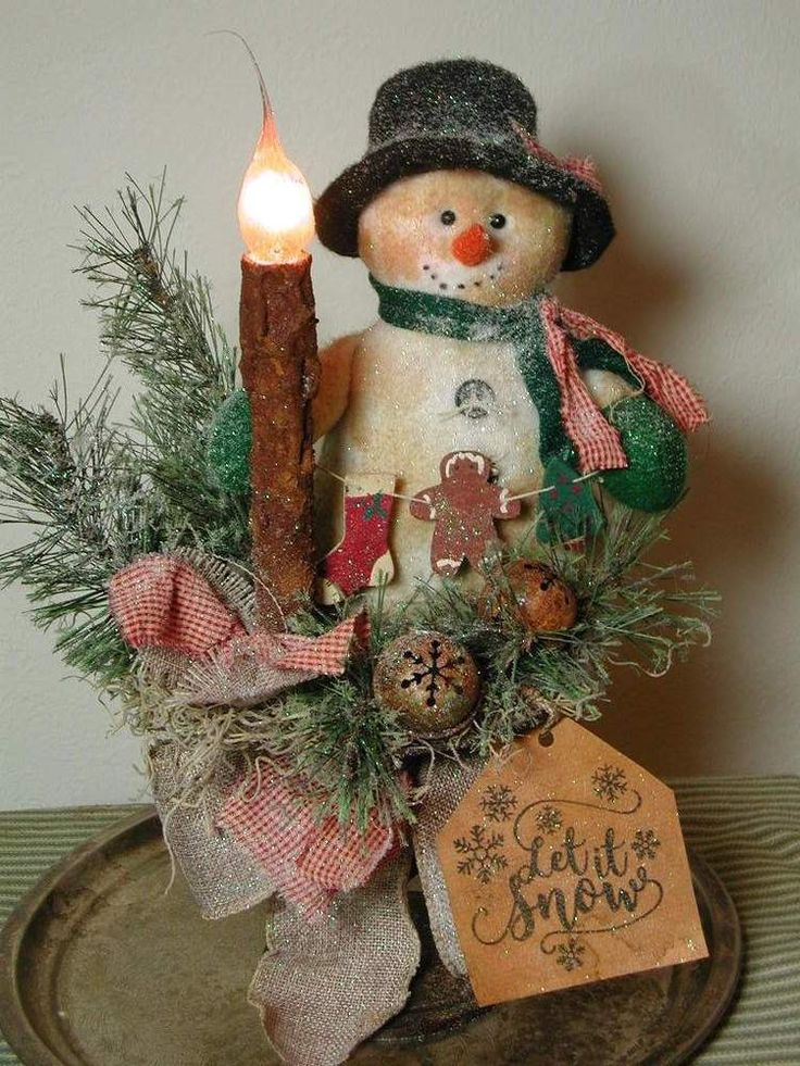1000 ideas about primitive country christmas on pinterest for Rustic snowman decor