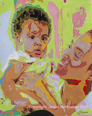 This is my latest #Pastel #Art #Portrait of #Beyonce Knowles & little beautiful #baby Blue Ivy. www.jamesdeweaver.com.au/  Completed & Copyright 28-4-2015 #babypic