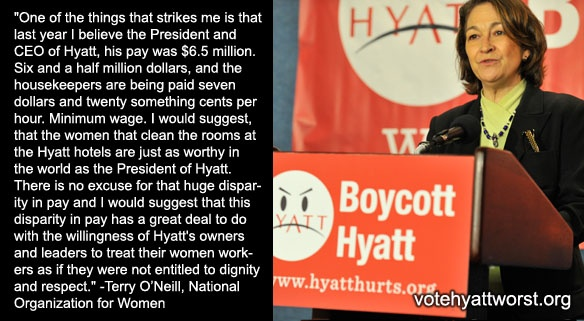 Housekeepers deserve dignity and respect! #HyattHurts @NationalNOW