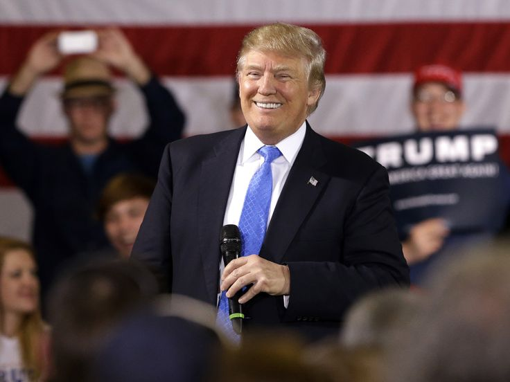 Republican presidential candidate Donald Trump speaks at a campaign stop Tuesday in Janesville, Wis. Trump's approach to foreign policy reflects his perception that for the most part, the U.S. gets a raw deal.