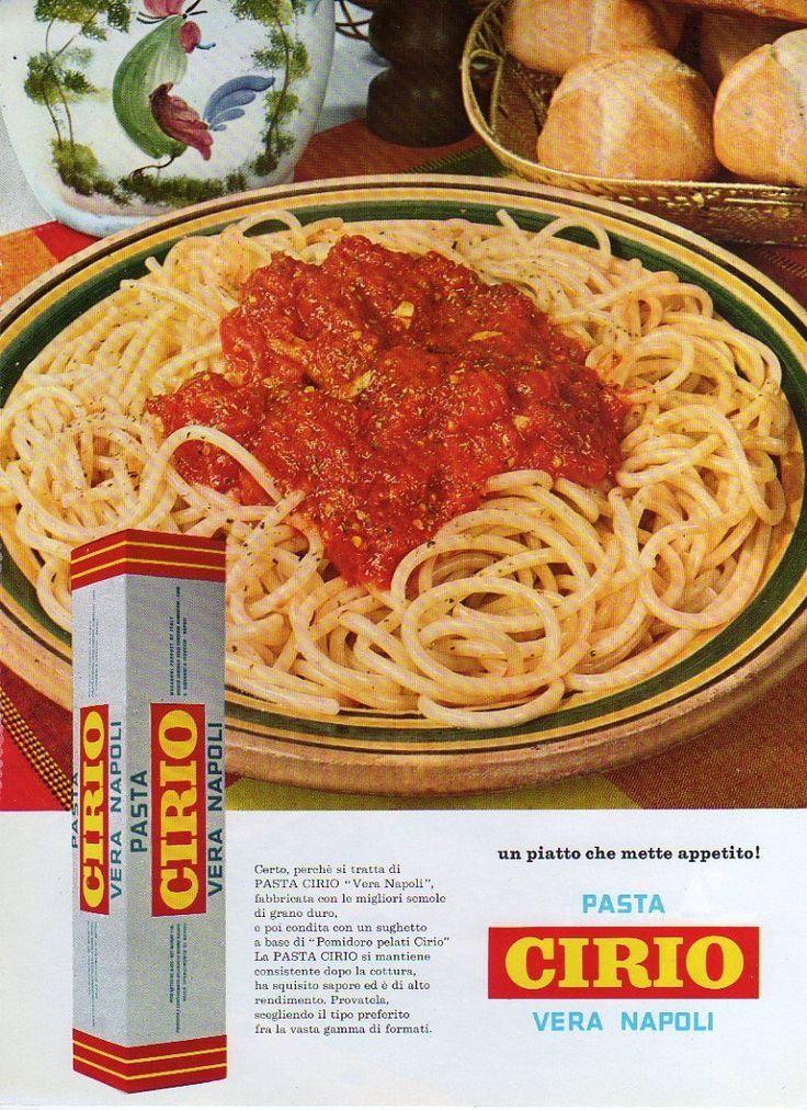 Pubblicità 1968 Pasta Cirio vera Napoli