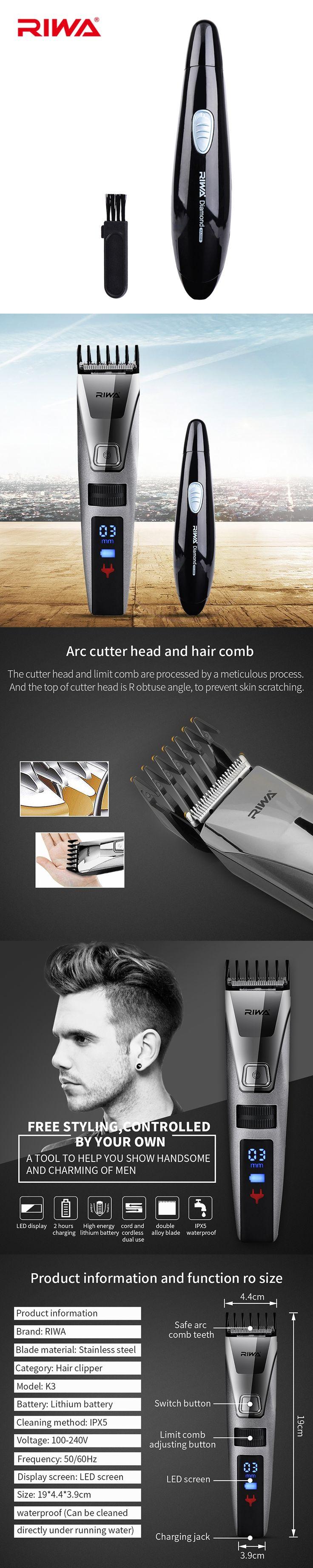 RIWA Professional Electric Haircut Hair Trimmer Nose Men Beard Clipper Hair Cutting Machine Hair Cutter Barber Tools Clipper