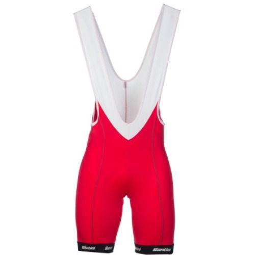$159.95 Santini Gara Bib Shorts Red, XXL