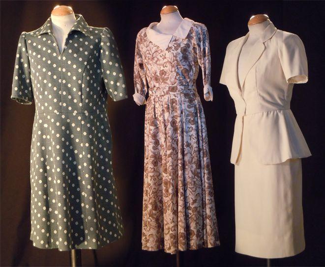 Años 40 y 50 mujer #vestuario #vintage
