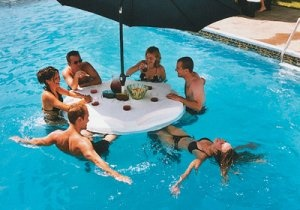 Another must have for my pool!     I believe I saw some floating chairs to go with it. Must search...    #floating table for pool