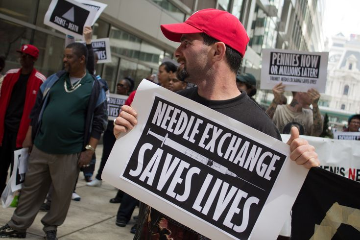needle exchange programs - needle exchange programs - (despite proven benefits of needle exchange for drug users, governments refuse to sponsor it) c. Evidence-based community building / citizens view