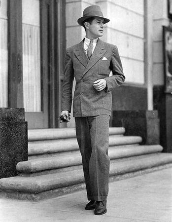 férfidivat az 1930-as évekből