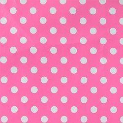 Voksdug pink m hvide bomber