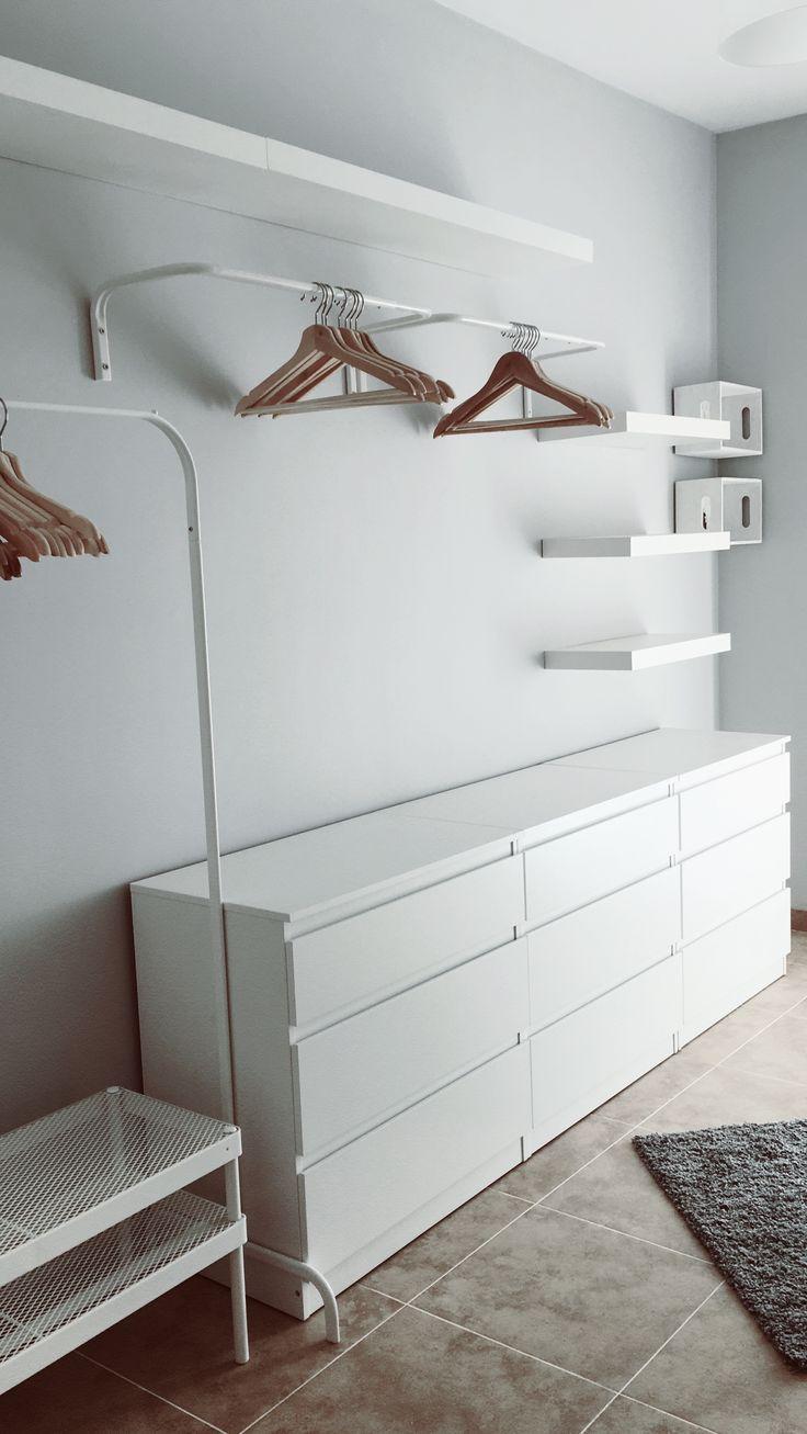 Vestidor lowcost. IKEA. #vestidor #lowcost #ikea - #decoracion #homedecor #muebles