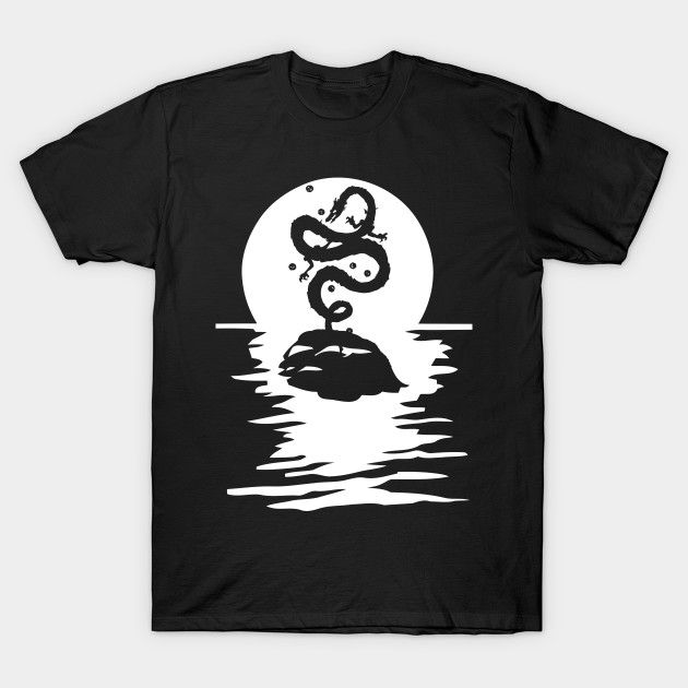Goku Shenron Dragon Ball T-Shirt River Moon Anime Death Note Tokyo Ghoul One Piece