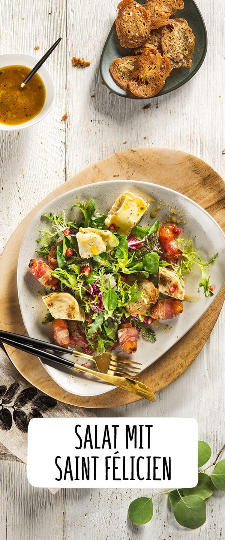 Besonderes Weihnachtsessen.Winterlicher Salat Mit Lauwarmem Saint Félicien Rezept Feine