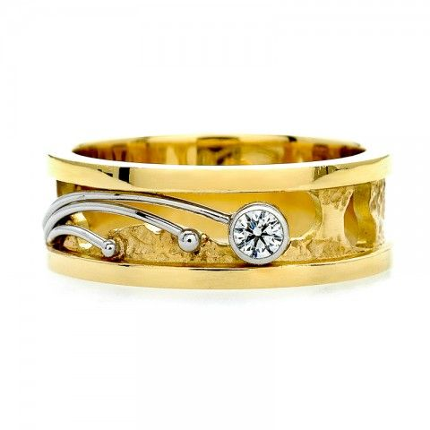 Custom Diamond Shooting Star Band from J.M. Edwards Raleigh NC