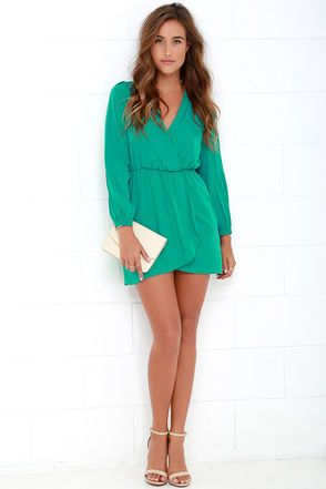 Cute Teal Green Dress