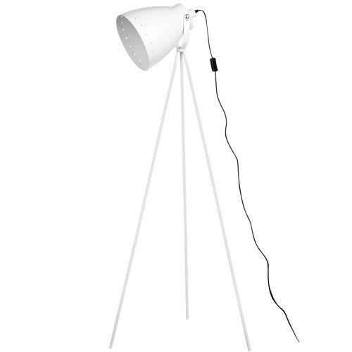 Premier Housewares Stativ-Stehlampe, Weiße Metall Siehe mehr unter http://www.woonio.de/p/premier-housewares-stativ-stehlampe-weisse-metall/