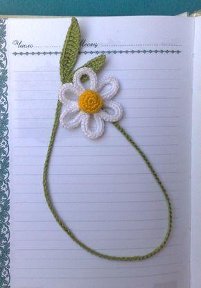 Daisy crochet bookmark Gift for children Organik gift Bookmark handmade