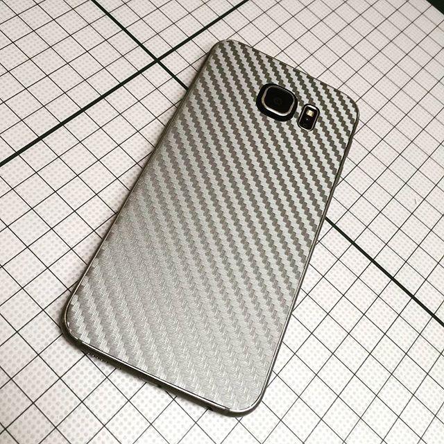 #Galaxy #S6 Silver #CarbonFiber #Skinz