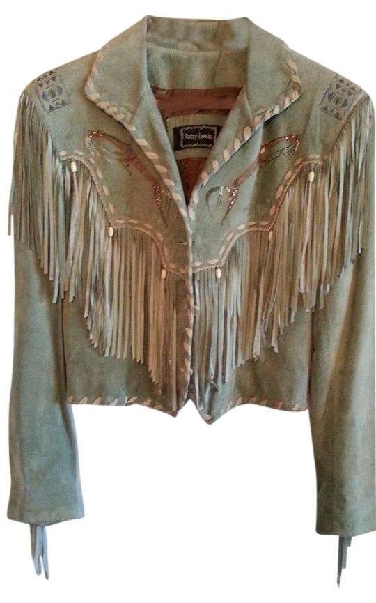 Double D Ranchwear Patty Lewis For Fringed Seafoam Green Leather Jacket. Free shipping and guaranteed authenticity on Double D Ranchwear Patty Lewis For Fringed Seafoam Green Leather Jacket at Tradesy. PATTY LEWIS FOR DOUBLE-D RANCHWEAR Fringed Jacket ...