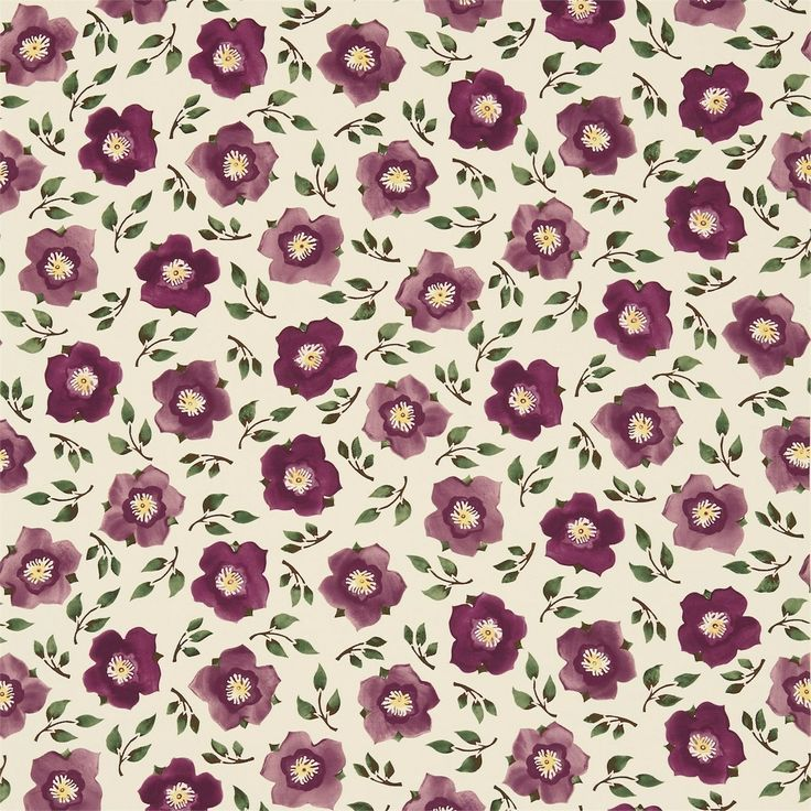 British  Wallpapers - Emma Bridgewater Hellebore China Fabric Plum/Green DEMB223432, £45.00 (http://www.britishwallpapers.co.uk/emma-bridgewater-hellebore-china-fabric-plum-green-demb223432/)