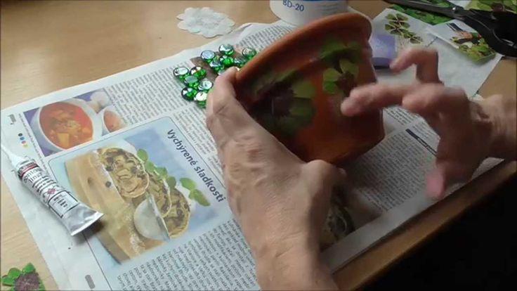 Jana Melas Pullmannová: Kvetináč so servítkovou technikou