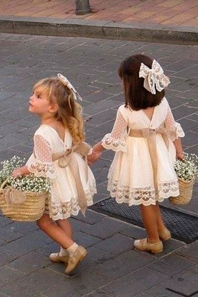 Must Have 2019: 24 Lace Flower Girl Dresses 1