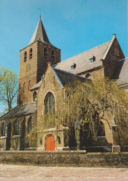 Postcard sent to Russia >> Sint Martinuschurch in Halsteren, a small village in The Netherlands. It's built in the 15.th century as a catholic church, but was used by the protestants several times