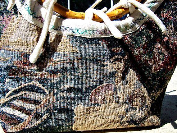 Nautical Purse   Victorian Bag  Tapestry Handbag  by ClassA, $80.75
