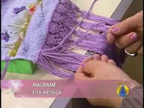 » A artesã Jucineide Evaristo ensina técnicas de macramê no programa SABOR DE VIDA da REDE APARECIDA. REDE APARECIDA Você em boa companhia www.A12.com/tv www...
