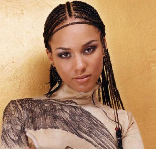 Symmetric braided cornrow hairstyle #hairstylesforblackwomen