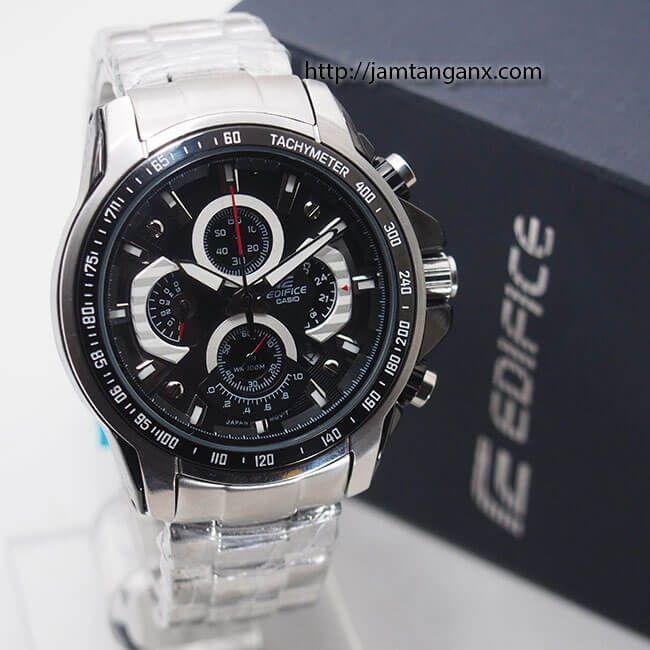 jam tangan edifice EF-560 Silver Black