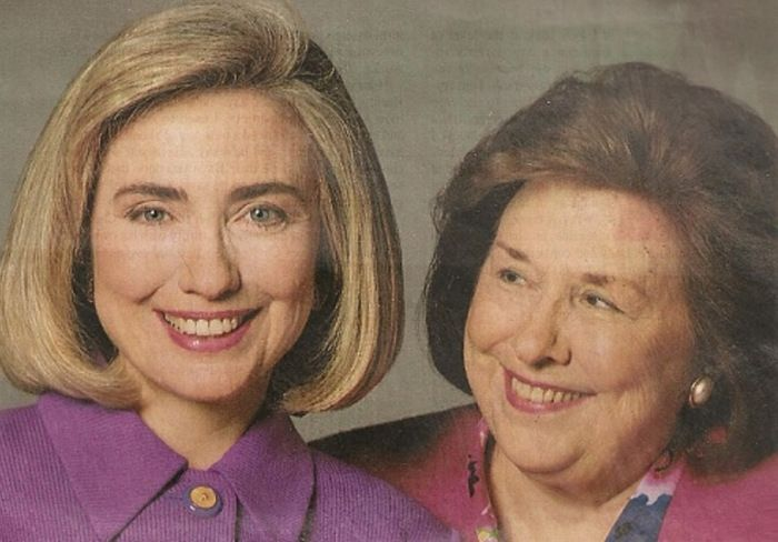 Hillary Clinton with her mother Dorothy Rodham who lived to see her daughter become Secretary of State.