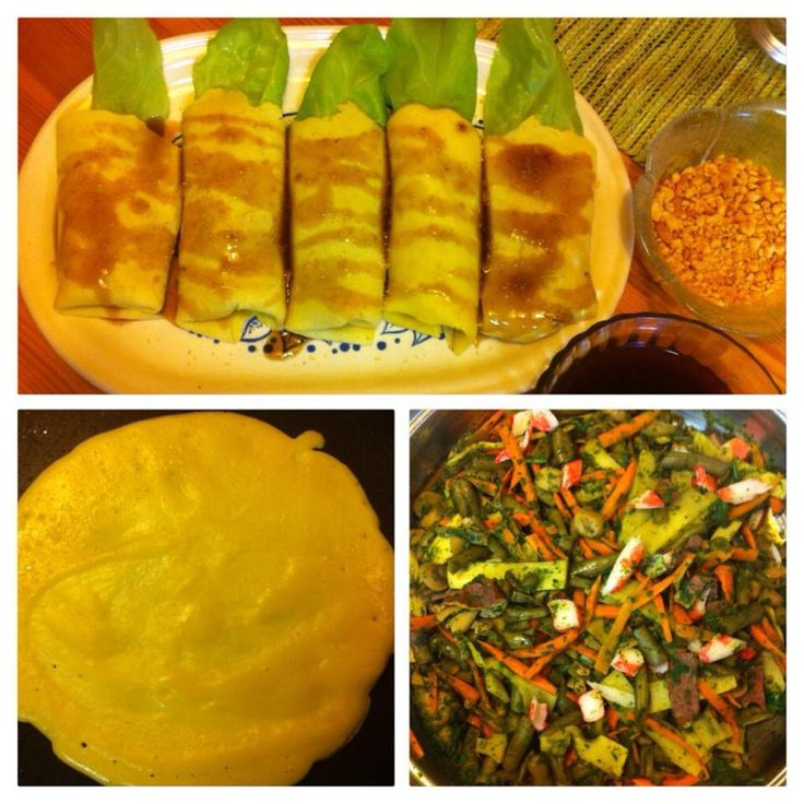My home made fresh vegie lumpia..i made my own lumpia wrapper..