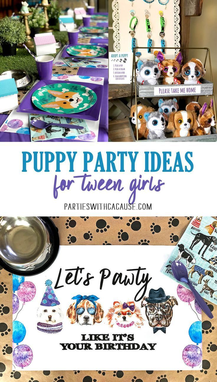 Dog Themed Puppy Birthday Party Ideas For Kids Parties With A Cause Dog Themed Birthday Party Puppy Birthday Parties Puppy Birthday