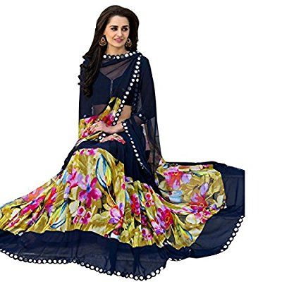 Women's Latest Printed Saree with Blouse piece By Vaisu Trendz(weigthless,Multi Color)