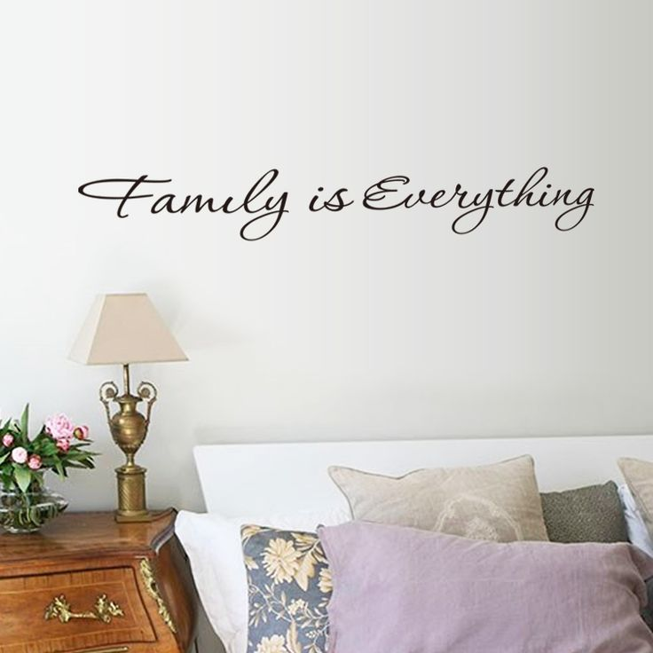 Removable Vinyl Accent Wall Tape: Family Is Everything Stickers English Quotes Vinyl Home