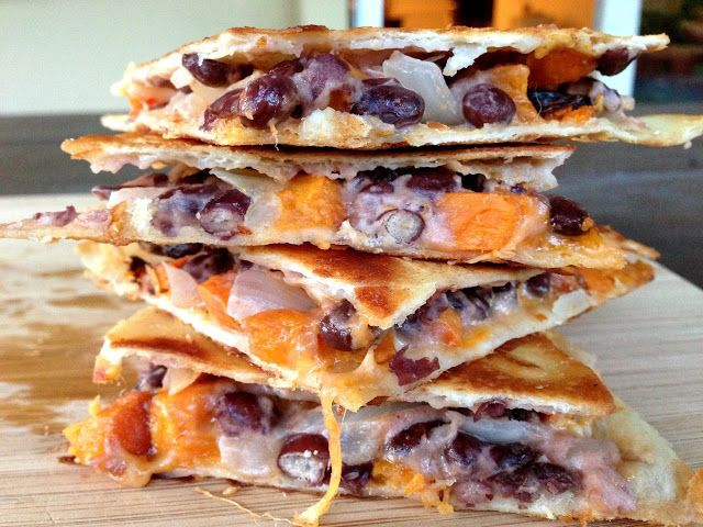 ... Brunch: Roasted Sweet Potato, Black Bean, and Goat Cheese Quesadillas