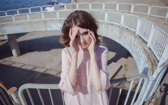 Download wallpapers Disha Shemetova, beauty, brunette, photomodels, beautiful girls