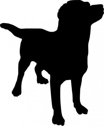 Sitting Dog Silhouette Pattern   Dog Silhouette Clip Art