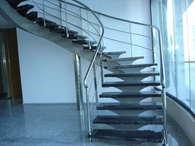 1000 images about barandas de escaleras on pinterest - Pasamanos de acero ...
