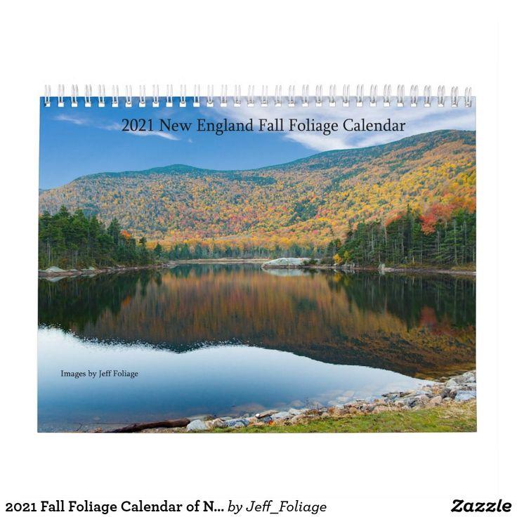 2021 Fall Foliage Calendar of New England | Zazzle.in 2020