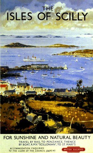 Fantastic A4 Glossy Print - 'The Isles Of Scilly' - Taken From A Rare Vintage Travel Poster (Vintage Travel / Transport Posters) by Unknown http://www.amazon.co.uk/dp/B006YDPZ8O/ref=cm_sw_r_pi_dp_0M0nvb1MB19V2