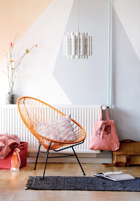 ideas about Geometric Wall on Pinterest Stenciled
