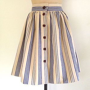 Was a FREE PATTERN when last checked. Make a button-through skirt: free sewing pattern